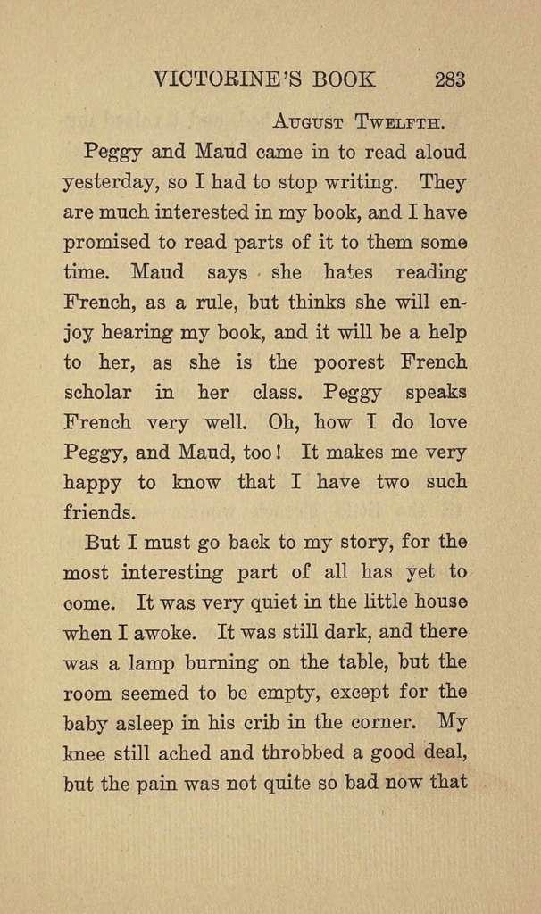 Victorine's book,