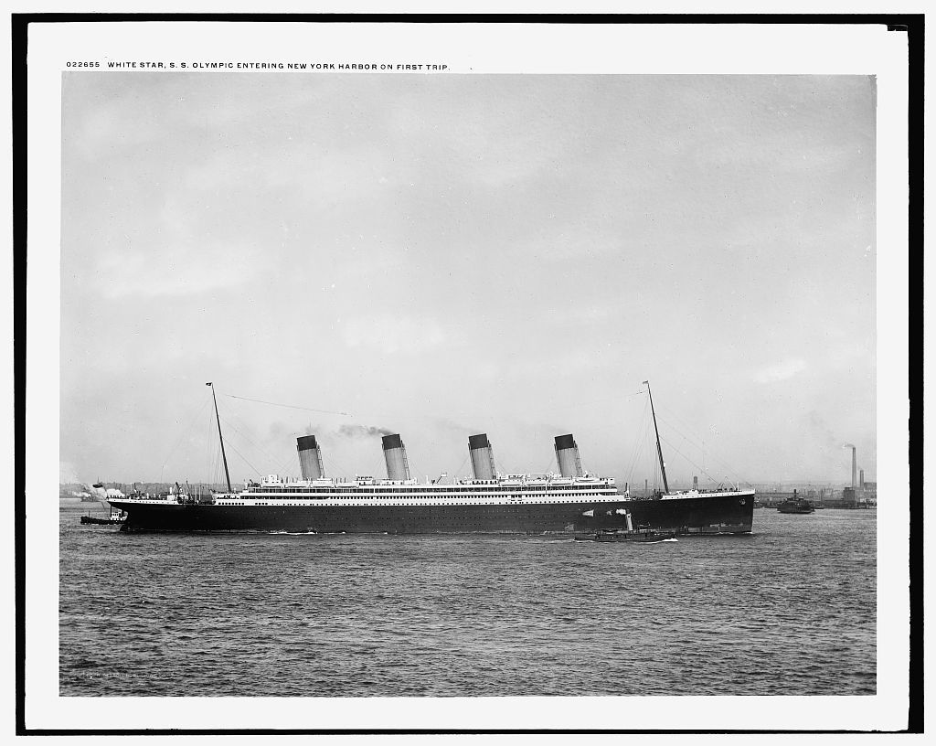 White Star [Line] S.S. Olympic entering New York Harbor on first trip