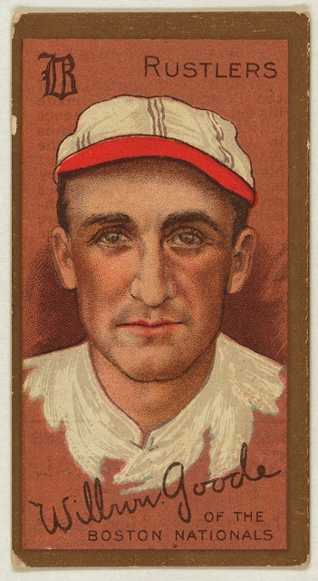 [Wilbur Good, Boston Rustlers, baseball card portrait]