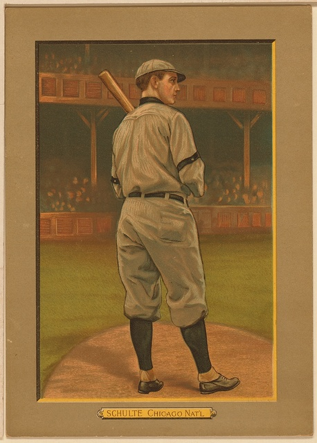 [Wildfire Schulte, Chicago Cubs, baseball card portrait]