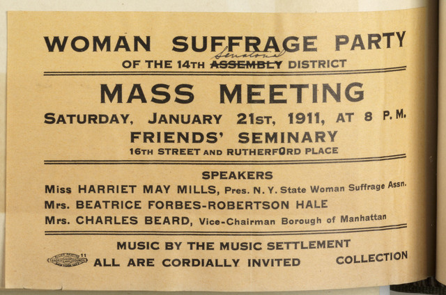 Woman Suffrage Party Mass Meeting