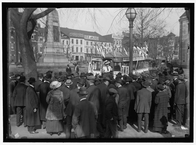 [Woman Suffrage. Street Car, Susan B. Anthony Pageant]