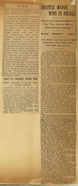 Women vote in Seattle elections
