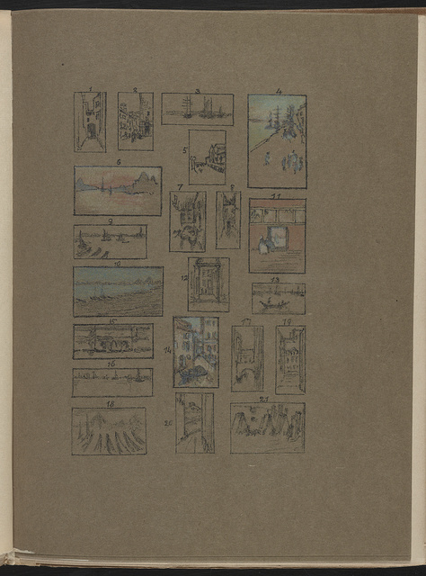[21 pastels of Venice by James McNeill Whistler made during his stay from 1879 to 1880]