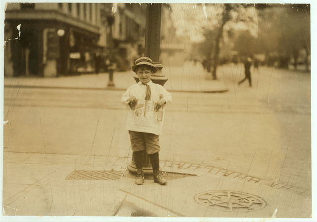 6 yr. old Earle Holt (or Hope) 712 H St., S.W., sells papers for a neighbor boy. When I met him, within an hour he had forgotten that I had photographed him, but he didn't forget to shortchange me when I bought the paper. He goes to school in the morning and sells in the afternoon.  Location: [Washington (D.C.), District of Columbia]