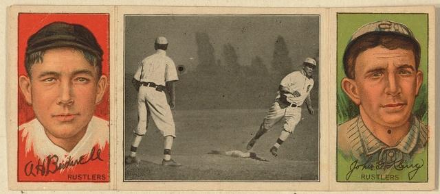[Albert Bridwell/John Kling, Boston Rustlers, baseball card portrait]