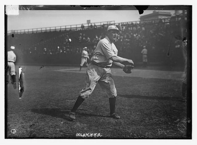 "[Albert ""Cozy"" Dolan at Hilltop Park, NY, New York AL (baseball)]"