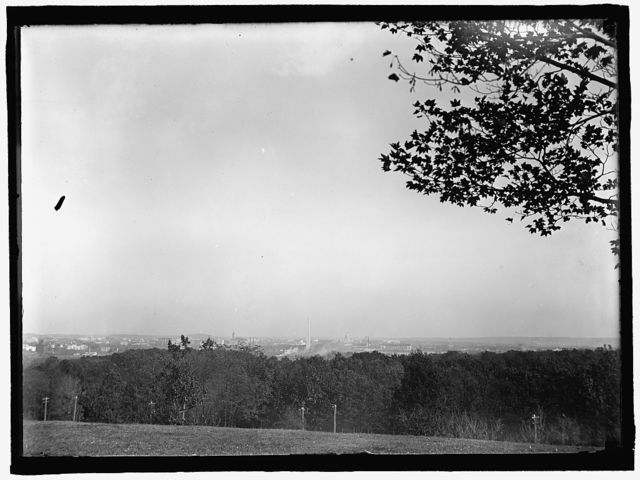 ARLINGTON NATIONAL CEMETERY. VIEW, WASHINGTON IN DISTANCE