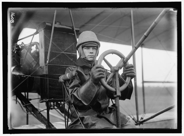 AVIATION, ARMY, COLLEGE PARK. TESTS OF CURTISS PLANE FOR ARMY. SINGLE CONTROL