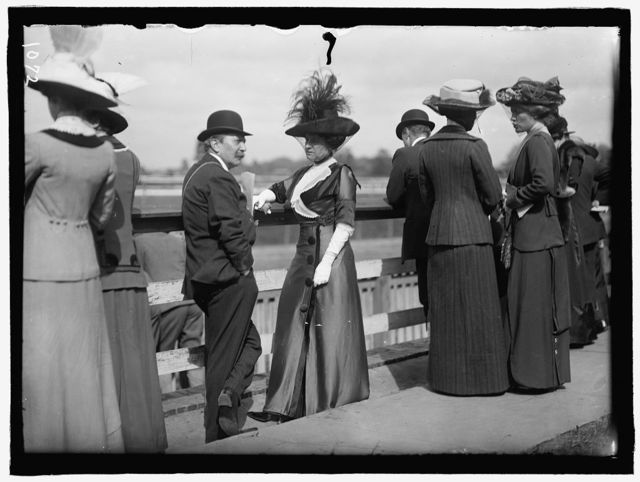 BENNING RACES. AUGUST BELMONT AND MRS. DONALD CAMERON