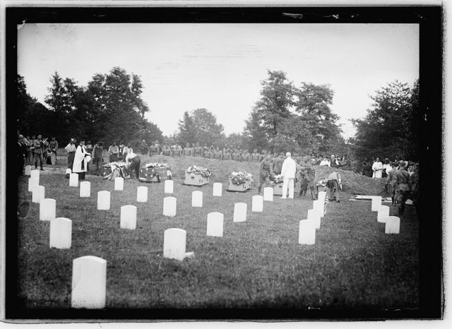 Carrizel Martyrs arrival with military honors. Arlington Military cemetery. Photo by Central News Photo Service