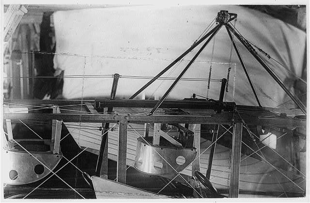 Close-up of cock-pits of Bleriot type airplane of the American Aeroplane Supply House, Hempstead, N.Y.