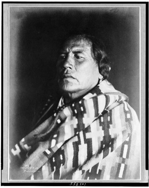 [Curly, sole survivor of Custer massacre--scout for Custer, head-and-shoulders portrait, facing left]