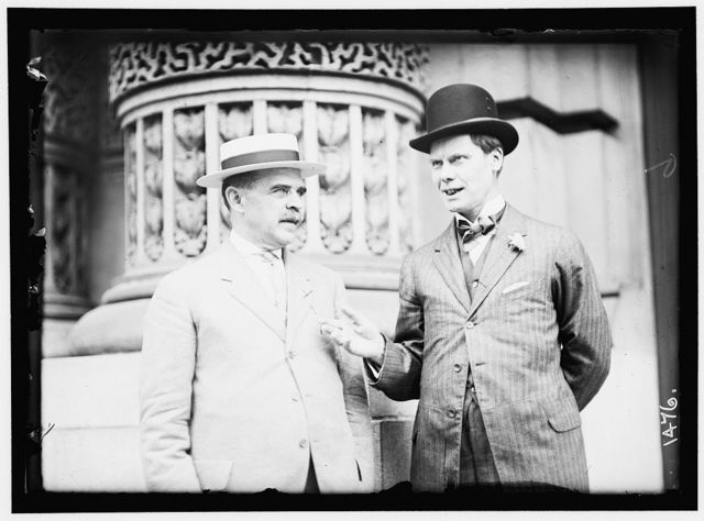 DEMOCRATIC NATIONAL CONVENTION. GEORGE M. PALMER, CHAIRMAN OF NEW YORK DELEGATION; REP. WILLIAM SULZER OF NEW YORK