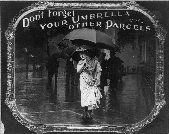 Don't forget your umbrella or other parcels