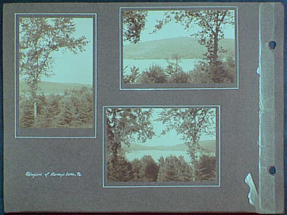 Early years, with images of family, self portraits, landscapes and architectural interiors. Glimpses of Harvey's Lake, Pennsylvania