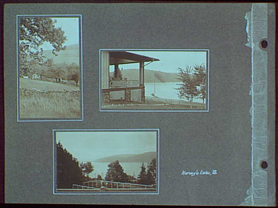 Early years, with images of family, self portraits, landscapes and architectural interiors. Harvey's Lake, Pennsylvania