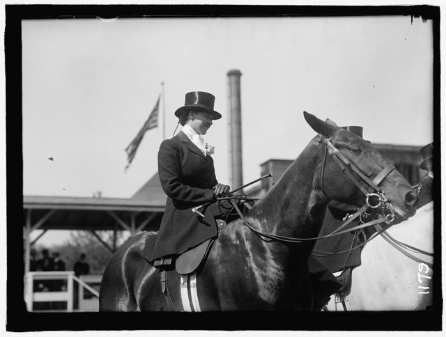 ELKINS, KATHARINE; MRS. WILLIAM F. HITT. HORSE SHOW