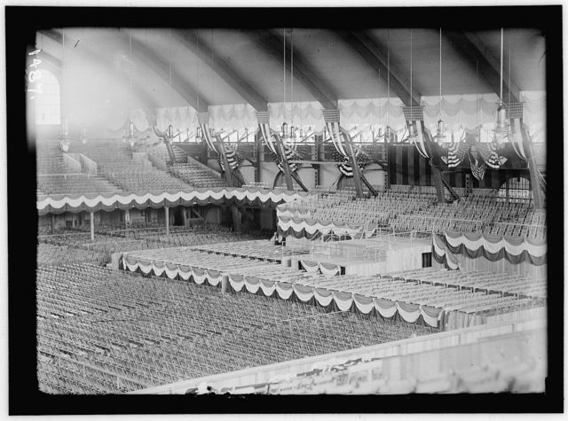 FIFTH REGIMENT ARMORY, BALTIMORE, MARYLAND. INTERIOR READY FOR DEMOCRATIC NATIONAL CONVENTION