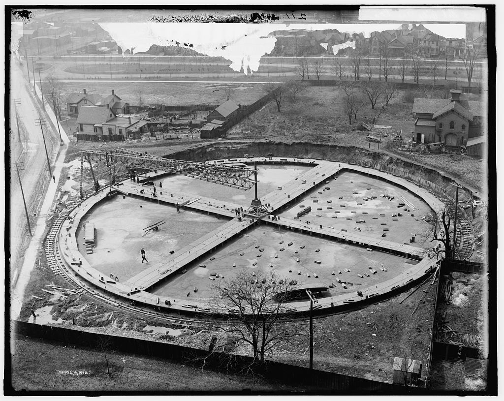 [Foundation for gas holder, Detroit City Gas Company]