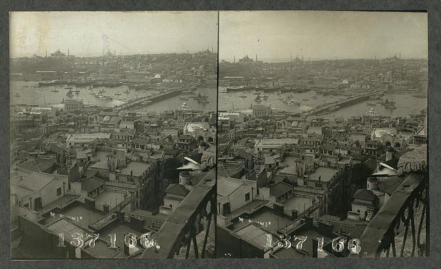 From Galata Fireman's Tower south towards Constantinople