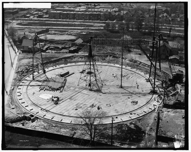 [Gas holder, station A, Detroit City Gas Company]