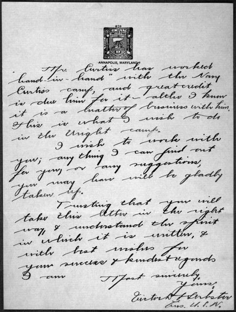 General Correspondence:  Herbster, V. D., 1912-1913