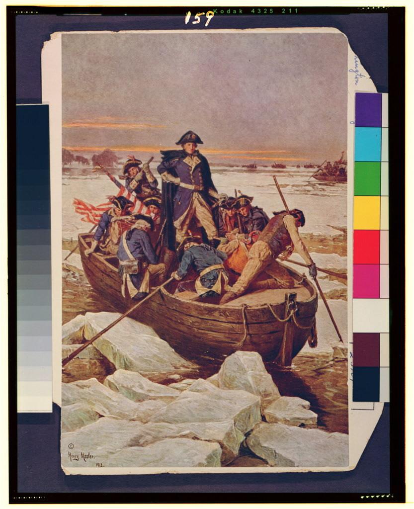 [George Washington crossing the Delaware River]