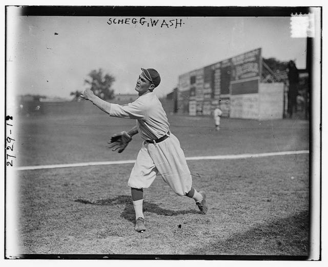 "[Gilbert ""Lefty"" Schegg, Washington AL (baseball)]"