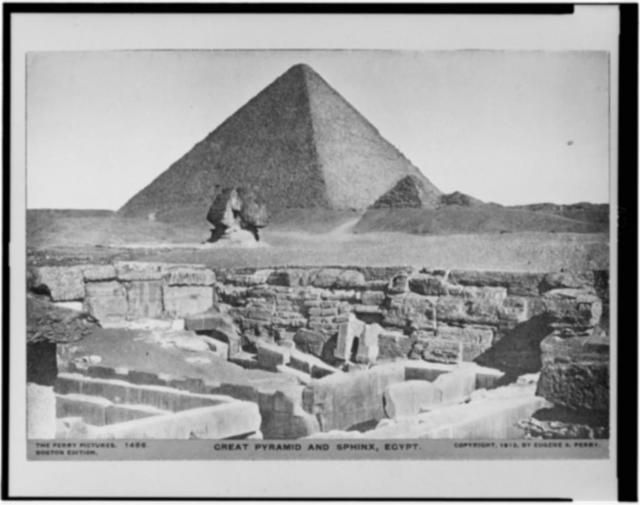 Great pyramid and sphinx, Egypt / The Perry Pictures.