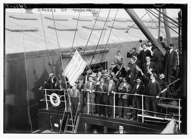 Greeks boarding MADONNA