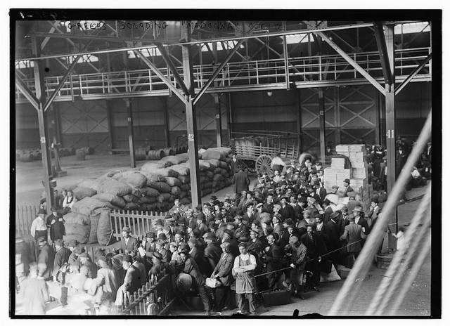 Greeks boarding MADONNA, Oct. 1912