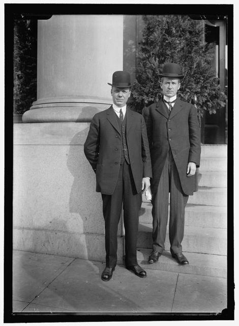 HADLEY, HERBERT SPENCER. GOVERNOR OF MISSOURI, 1909-1913. RIGHT, WITH GOV. MORRIS OF MONTANA