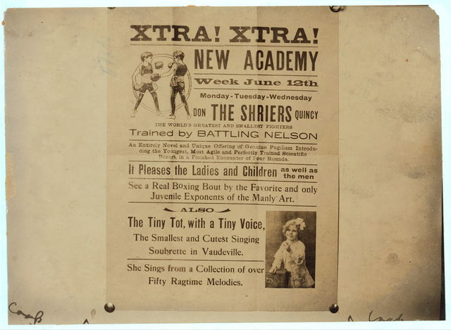 [Hand bill advertising vaudeville acts by the Shrier children. See photo and label 2937 and report of L.H. Hine. Location: [Washington (D.C.), District of Columbia]