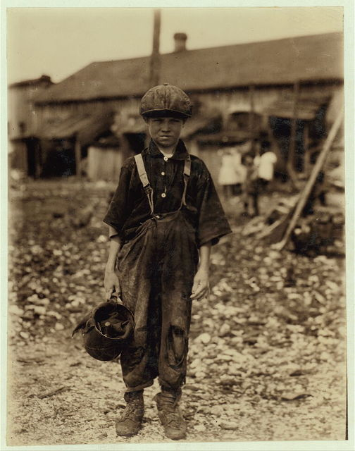 Henry, 10 year old oyster shucker who does five pots of oyster [sic] a day. Works before school, after school, and Saturdays. Been working three years. Maggioni Canning Co.  Location: Port Royal, South Carolina.