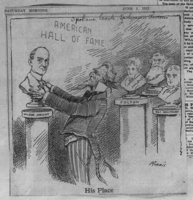 His Place [cartoon, Spokane Review, 1 June 1912]