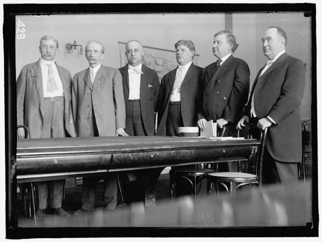 HOUSE OF REPRESENTATIVES COMMITTEES. SPECIAL COMMITTEE ON THE INVESTIGATION OF THE U.S. STEEL CORP., JANUARY 12, 1912. POPULARLY CALLED 'STEEL TRUST INVESTIGATING COMMITTEE' OR 'STANLEY COMMITTEE.' YOUNG OF MI; BARTLETT OF GA; STANLEY OF KY, CHAIRMAN; BEALL OF TX; LITTLETON OFNY; McGILLICUDDY OF ME.