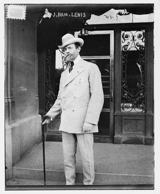 J. Ham Lewis, with cane