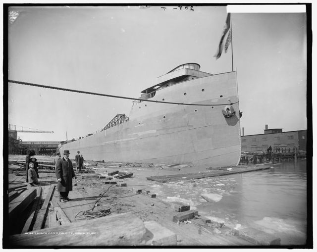 Launch of S.S. Calcite