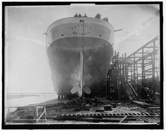 Launch of S.S. Calcite (str. 188)