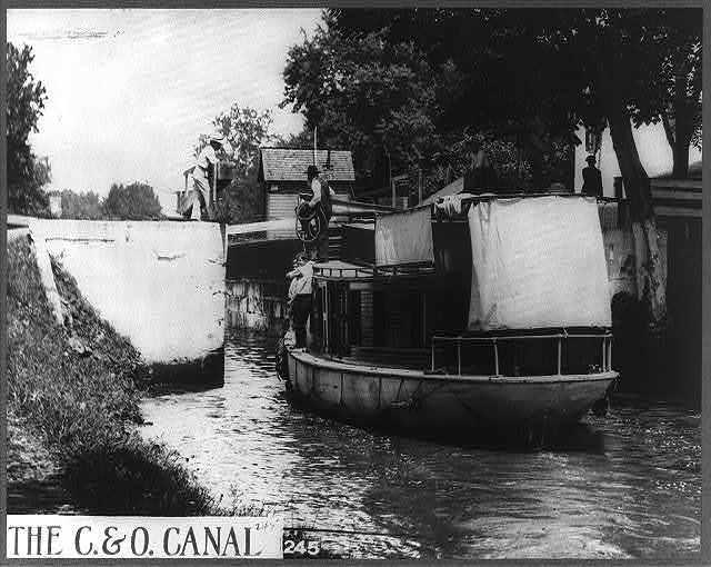 Lock on the Chesapeake and Ohio Canal near Washington, D.C.