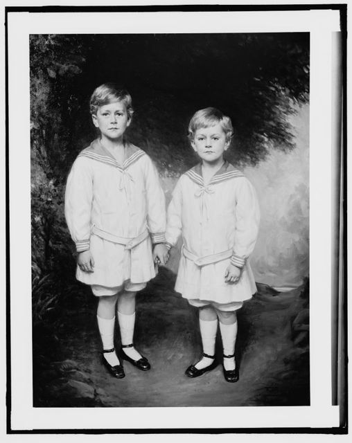 [Masters Charlie and Bobbie Warren, full-length portrait]