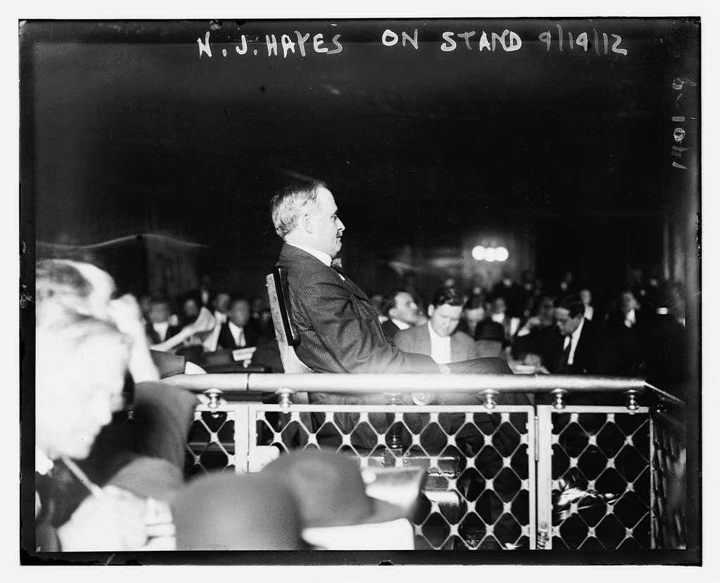 N.J. Hayes on stand