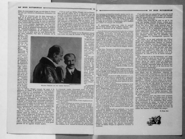 Notre Maitre Wilbur [Le Mois Automobile, 25 June 1912]