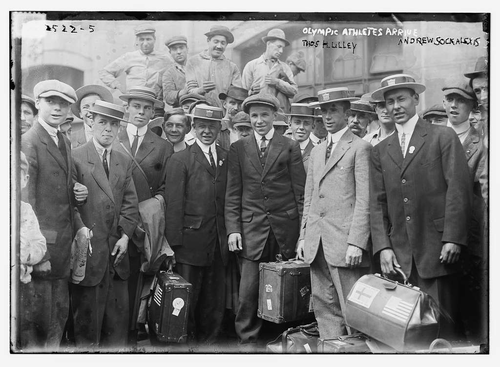 Olympic athletes arrive. Thos. H. Lilley, Andrew Sockalexis