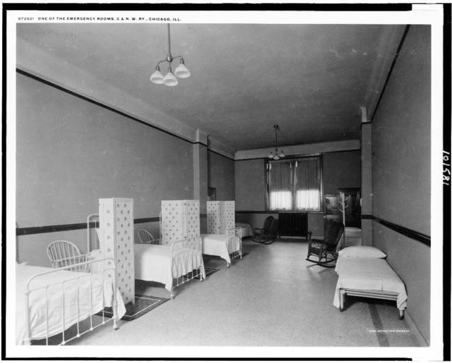 One of the emergency rooms, C. & N.W. Ry., Chicago, Ill.