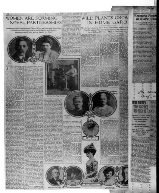 [Pages 9 and 10 of the Sun, 18 August 1912]