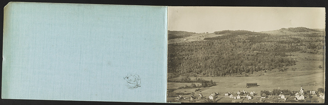 Panoramic birdseye  view Canadian Boundary Canaan, Vt., Beecher Falls, Vt., West Stewarstown, N.H. / Photo by Moore.
