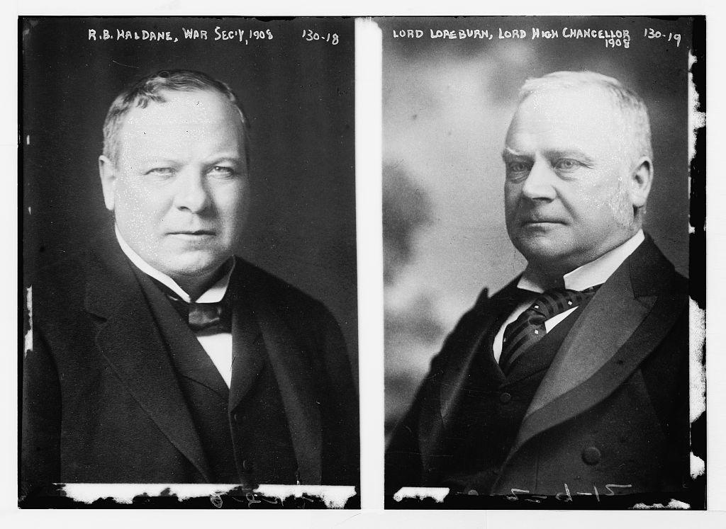 R.B. Haldane, War Sed'y in 1908, portrait bust