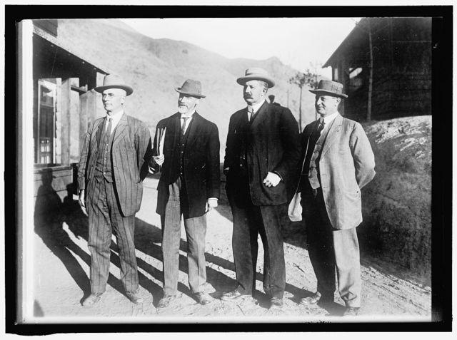 RECLAMATION, BUREAU OF. BIG MEN IN U.S. RECLAMATION SERVICE: A. P. DAVIS, CHIEF ENGINEER; F. H. NEWELL, DIRECTOR; H. N. SAVAGE, SUPERVISING ENGINEER, NORTHERN DIVISION; L.C. HILL, SUPERVISING ENGINEER, BUILDER OF ROOSEVELT DAM